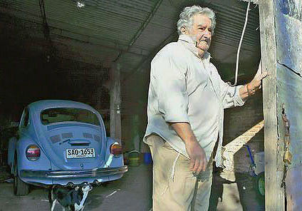 "President Jose Mujica — the leader of Uruguay (please note the word ""LEADER"") – and I find it to be a singular example of humility (Photo: Google)"