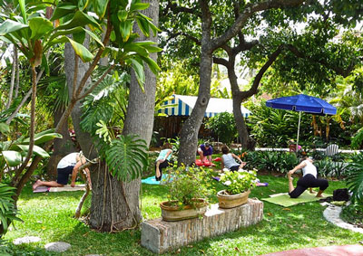 Yoga class at LCS grounds