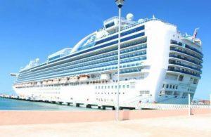 Cruise liner in Progreso Photo: SIPSE