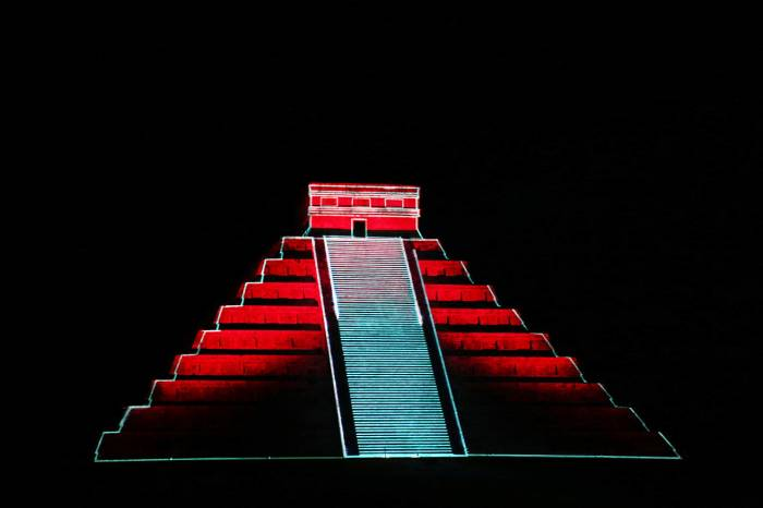 """Kukulkan Nights"" Chichen Itza Castle"