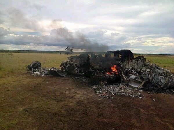 Mexican Aircraft shot down in Venezuela (Photo: Animal Politico)