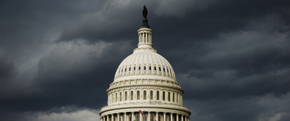 A strong storm front passes over the U.S. Capitol  (Photo By Bill Clark/CQ Roll Call)