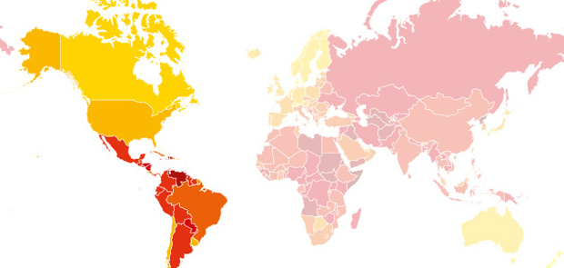 Corruption in the Americas (Image: http://blog.transparency.org/)