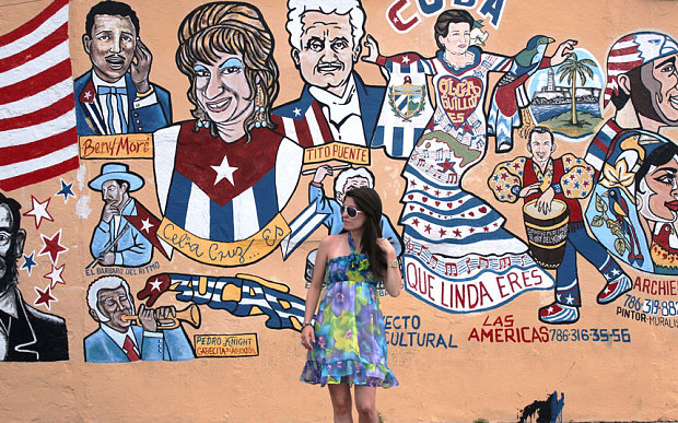 For more than fifty years Miami's Little Havana has been the exile capital for hundreds of thousands of Cubans who fled their homeland after Fidel Castro seized power  (Photo: Diana Bejar Diaz)