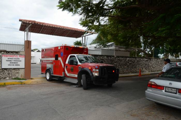 Merida Fire Department Truck at Colegio Rogers Hall (Photo: SIPSE)