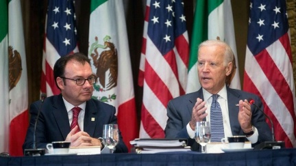 Vice President Joe Biden with Mexican Finance Secretary Luis Videgaray during the U.S.-Mexico High-Level Economic Dialogue (HLED) in Washington, D.C. (Photo: www.state.gov)