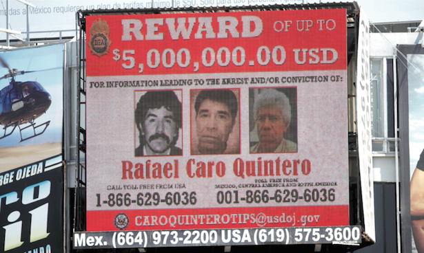 Mexican authorities have offered a reward for drug lord Rafael Caro Quintero.(Photo: thenews.com.mx)