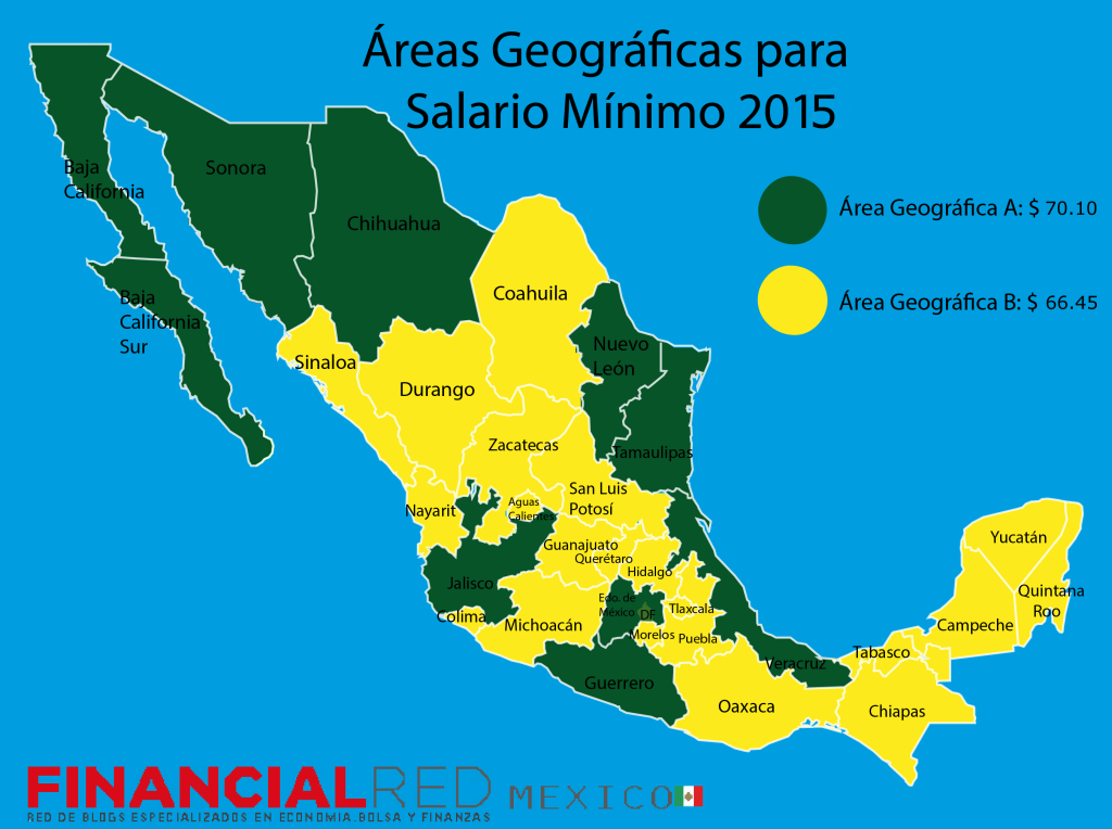 Minimum Wage  Geographical Areas 2015