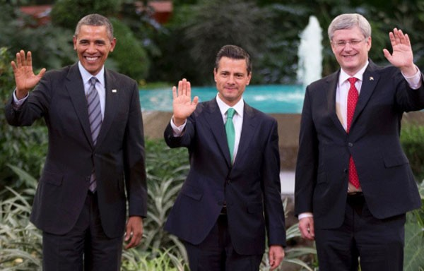 The Three amigos during the Toluca Summit in February 2014 (Photo: Google)