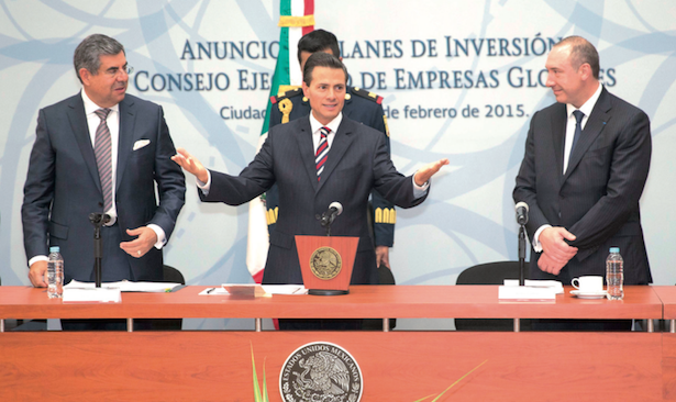 Enrique Peña Nieto praised multinational businesses for investments. (PHOTO: PRESIDENT'S OFFICE)