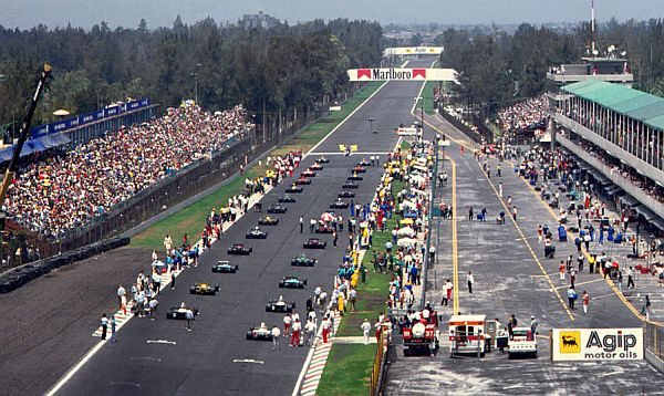 Mexico City will host a round of the 2015 FIA Formula One World Championship. After a 23-year absence, organizers have agreed a five-year deal starting in the 2015 season. (Pictured: 1992 Grand Prix of Mexico)
