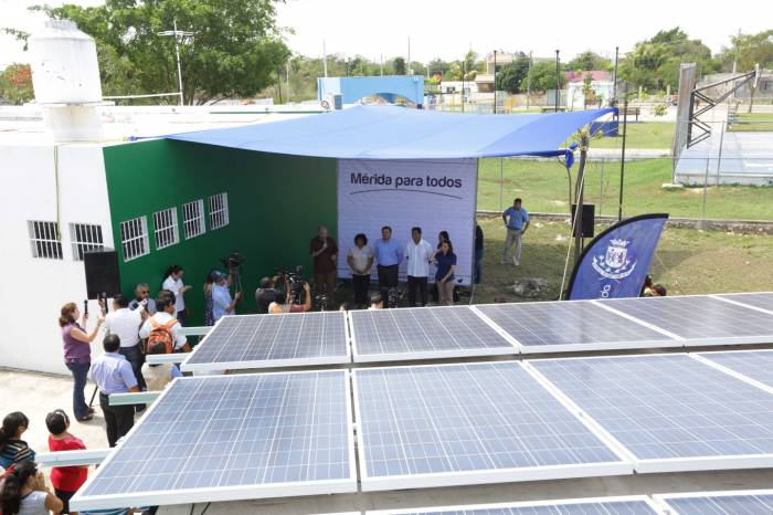 The solar panels will reduce operational costs. The savings will be used to buy equipment and materials for the training courses that these centers offer (Photo: sipse)