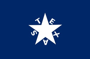 First Flag of the Republic of Texas designed by Lorenzo de Zavala