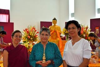 Neus Molina, Martha Cabral, Venerable Norbo (Joya) Monja Ordenada (Photo: Jonathan Chim)