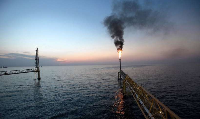 Petroleos Mexicanos complex located on the continental shelf in the Gulf of Mexico. (PHOTO: BLOOMBERG NEWS)
