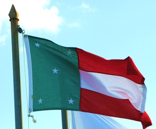 Flag of the Republic of Yucatán (Photograph by Néstor Solís, Wikimedia Commons)