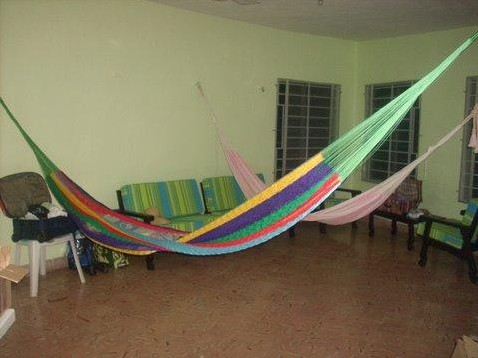 Having guests? There is plenty of room for hammocks!