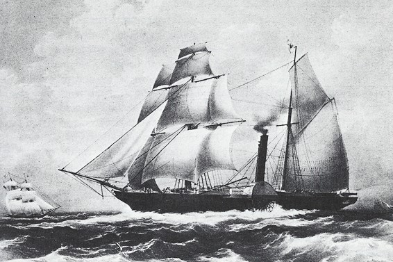 Iron-clad steam frigate Guadalupe, Mexican Navy Engraving, National Maritime Museum, Greenwich, England