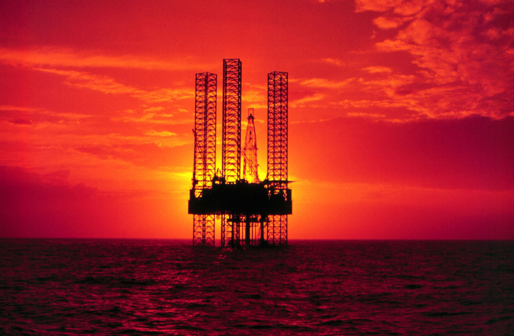 Mexico Oil Platform in the Gulf of Mexico