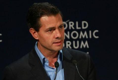 President Peña Nieto at the World Economic Forum on Latin America 2015 (Photo: Milenio)