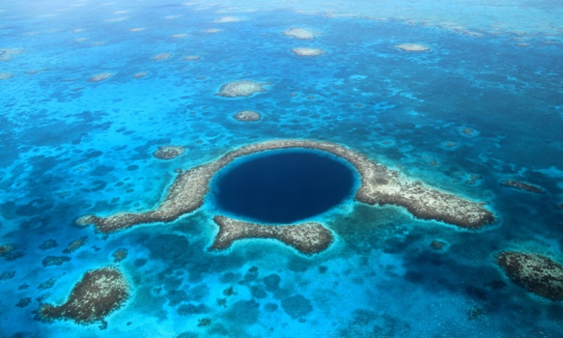 The Great Blue Hole, a collapsed underwater cave system is a Unesco world heritage site. (Photograph: Alamy)