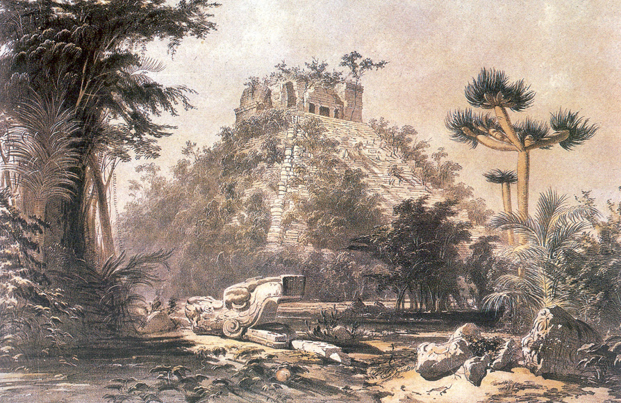 Empty Chichen Itzá by Frederick Catherwood in the late 1830´s