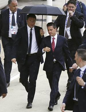 Enrique Peña Nieto in Milan, Italy (Photo: Matteo Renzi)