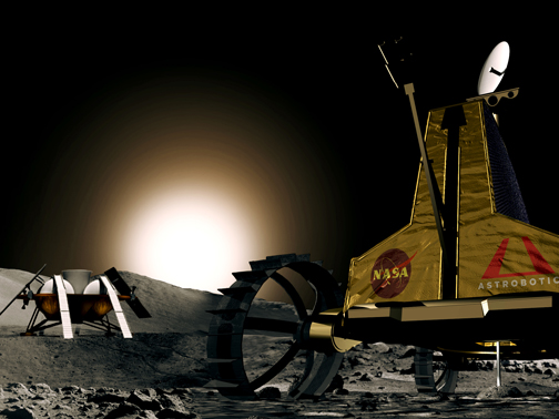 Astrobotic Technology Design for Robot to Prospect at Moon's Poles (Image: Google)