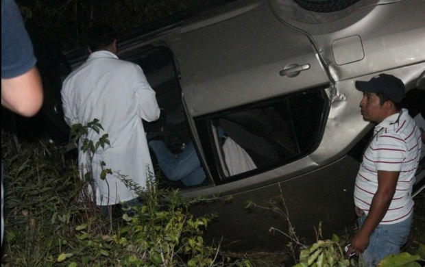 Car accident Alpha Alejandra Tavera (Photo La Jornada)