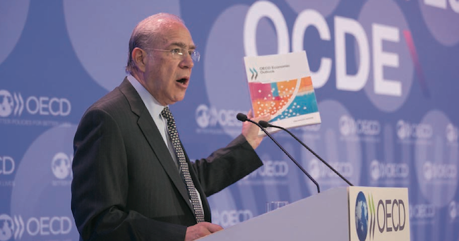 OECD's José Ángel Gurría called Mexico an example of how structural reforms improve the economy of a country. NOTIMEX PHOTO/OCDE