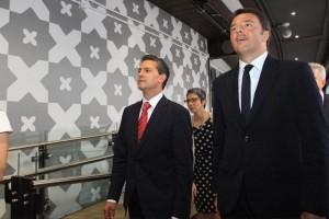 Peña Nieto was accompanied by the Italian Prime Minister, Matteo Renzi. (Photo: EFE/Stefano Porta )
