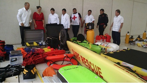 donated rescue equipment worth $ 640,000 USD (Photo: yucatan.com.mx)