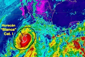 Hurricane Blanca weakened to a category 1 storm. (Photo: @Conagua_clima )