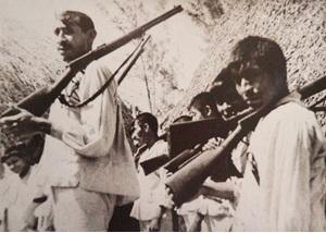 Maya soldiers Historic photograph, Museo de la Guerra de Castas, Tihosuco