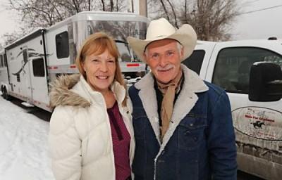 Nancy and Len Crow in Montana last month. (Photo: LARRY MAYER/BILLINGS GAZETTE)