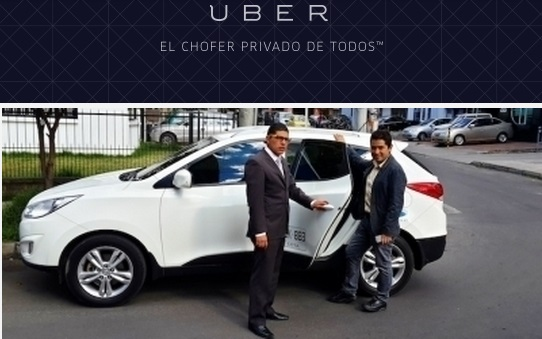 Uber in Colombia  photo by: pulsosocial.com