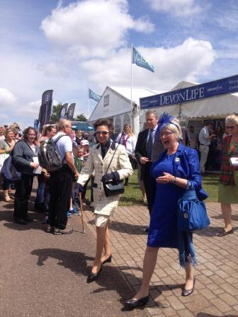 HRH Princess Anne enjoyed the first day of the show. (Credit Stewart Mandy)