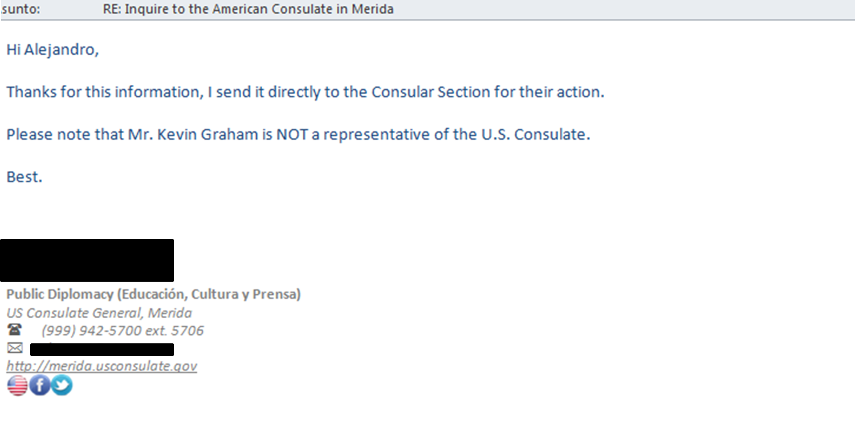 U.S. Consulate Response