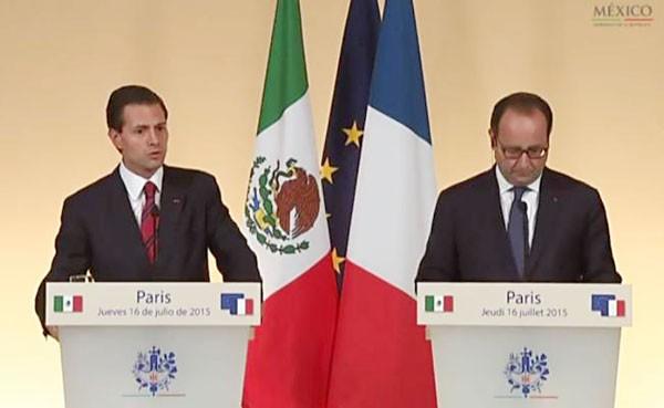 Peña Nieto and Hollande at the conclusion today of the former's state visit. (Photo: Presidencia de la República)