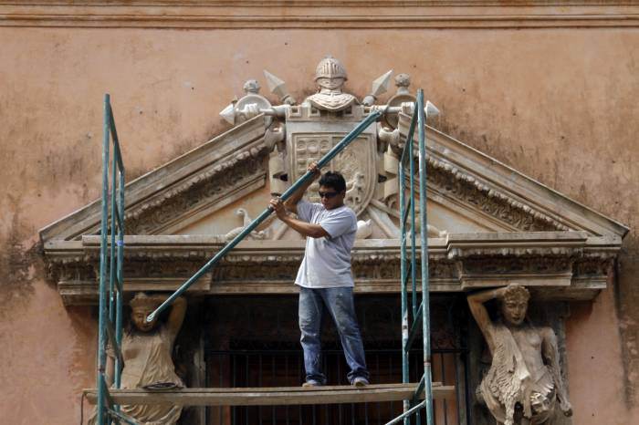 The rescue of historic facades by the City of Mérida continues. (Cesar Gonzalez / SIPSE)