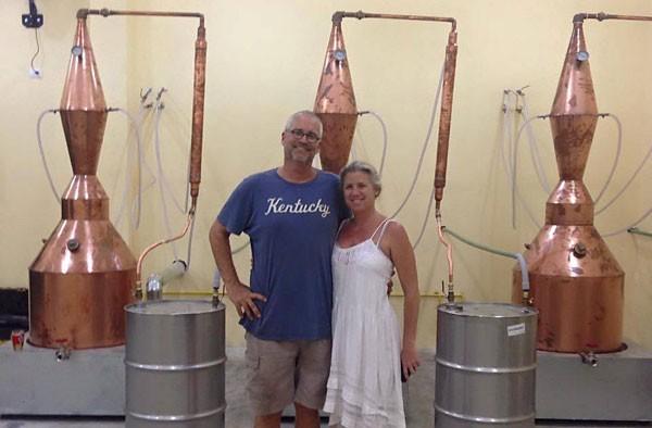 Bart and Jennifer Smith and vodka stills. (Photo: Mexico News Daily)
