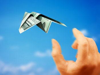 dollar bill plane