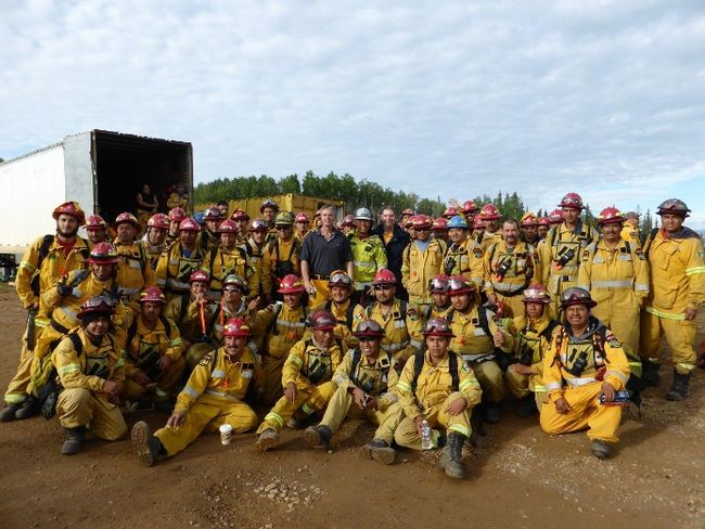 "Firefighters from Jalisco, Mexico, recently took a few ""Days of Rest"" at the Hinton Training Facility. Rest days are mandatory for firefighters to ensure they aren't exhausted on the front-lines. (Photo: hintonparklander.com)"