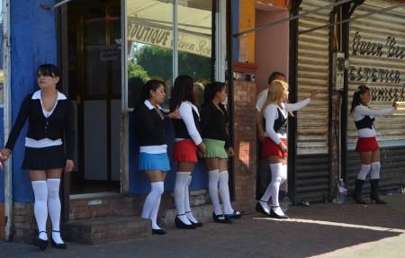 "Prostitutes at ""La Coahuila"" Northern Tijuana (Photo: www.losangelespress.org)"