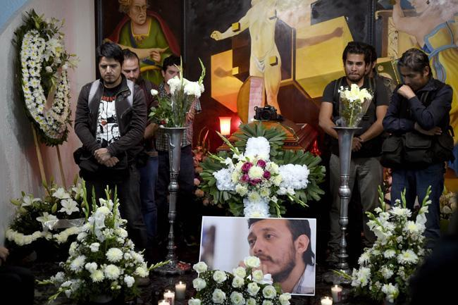 Ruben Espinoza's Funeral (Photo: AFP)