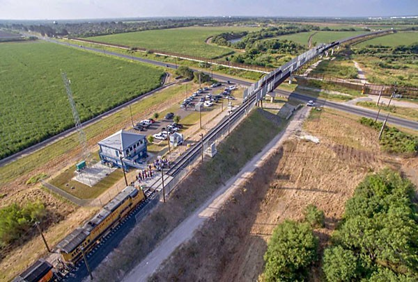 The new Railroad bridge linking Tamaulipas and Texas. (Photo: CAMERON COUNTY)