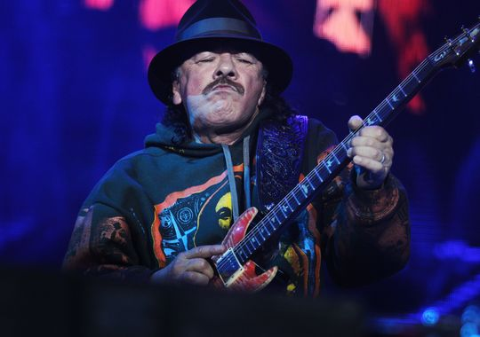 Carlos Santana in March 2015, in Veracruz, Mexico. (Photo: Koral Carballo, AFP/Getty Images)