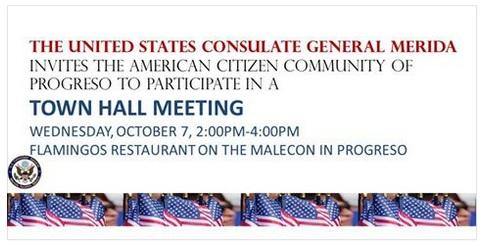 US Consulate announcement