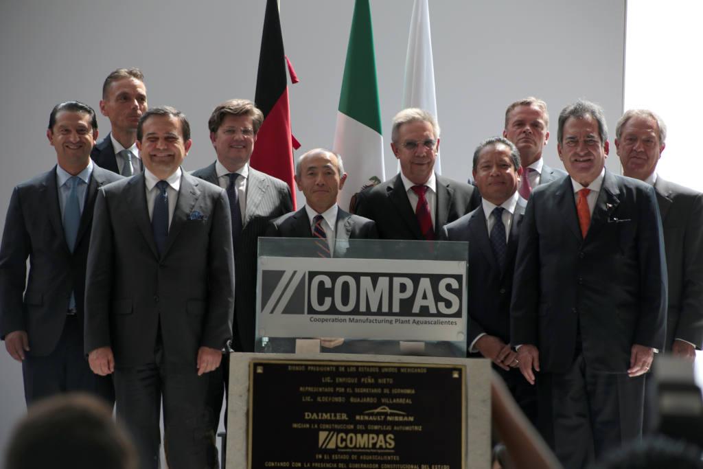 Grundsteinlegung neues Joint Venture-Produktionswerk COMPAS der Daimler AG und der Renault-Nissan Allianz in Aguascalientes/Mexiko