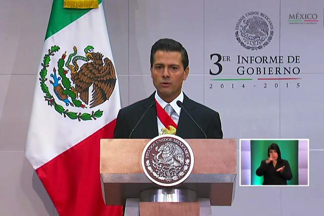 Peña Nieto mentioned the creation of Fibra E in his annual address to the nation. (Photo: El Economista)